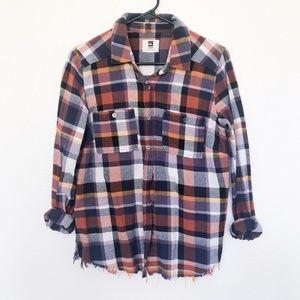 Colorful plaid flannel